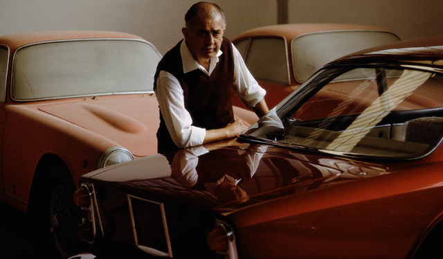Car Designer Alfredo Vignale With Cars